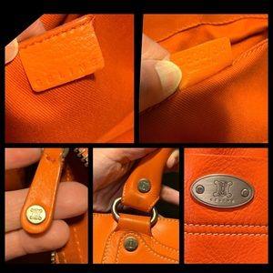 Celine Bags - CELINE Boogie orange leather handbag